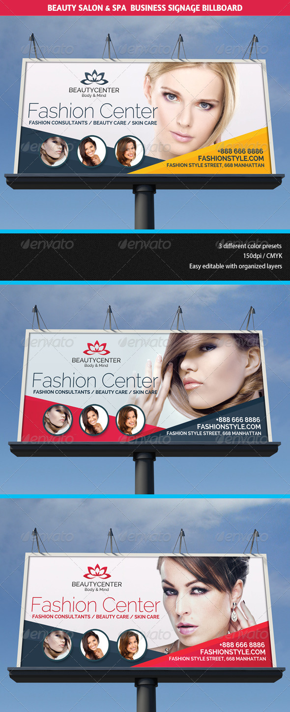 Beauty Center Spa Business Billboard Graphicriver