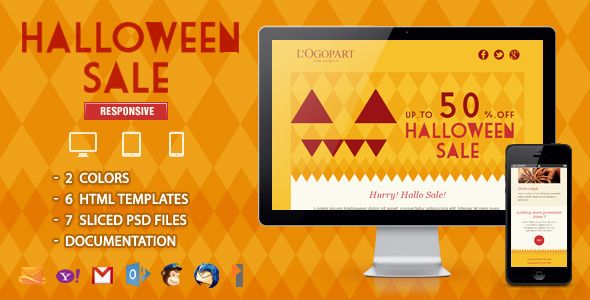 ThemeForest Halloween Sale Responsive Email Template 5913102