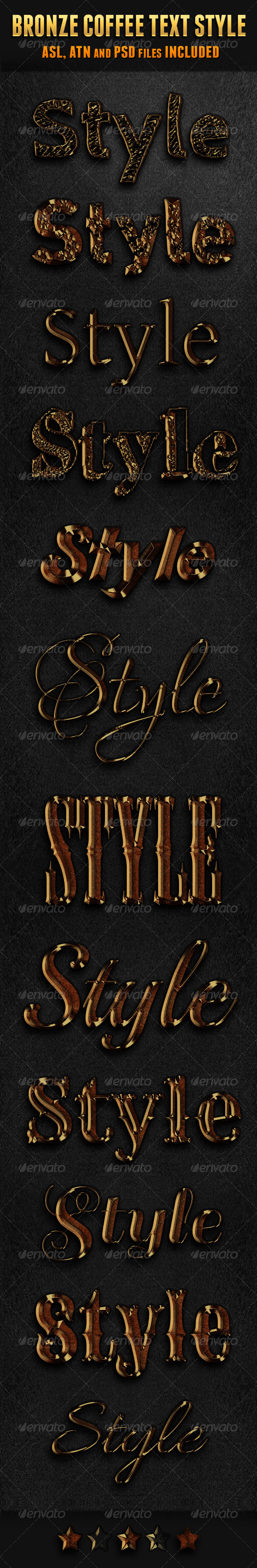 GraphicRiver Bronze Coffee Photoshop Text Style 5928216