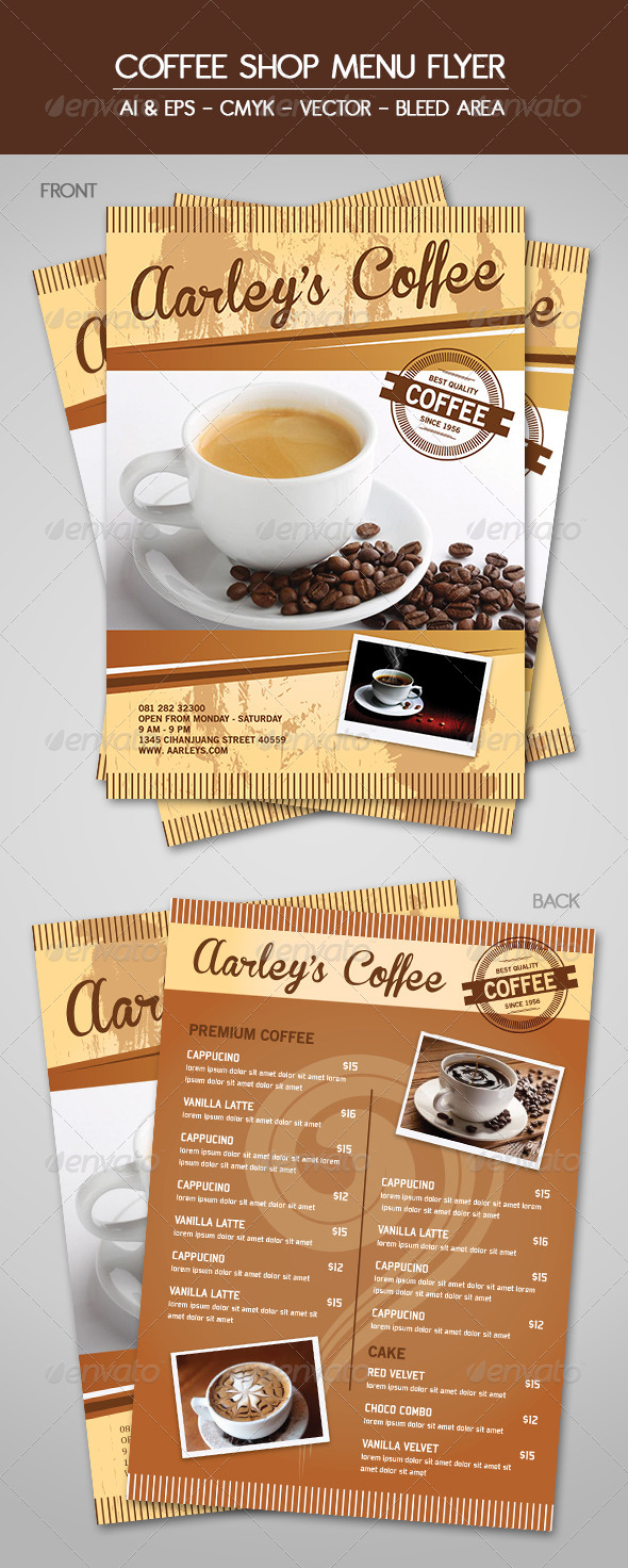 GraphicRiver Coffee Menu Flyer 5893261