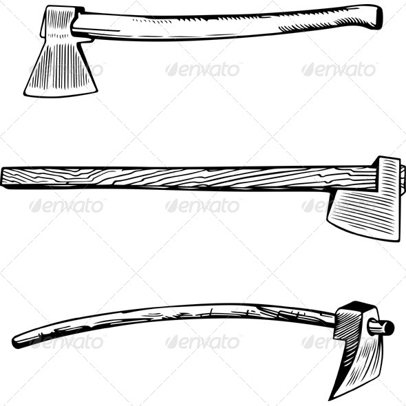GraphicRiver Vintage Axes 5928489