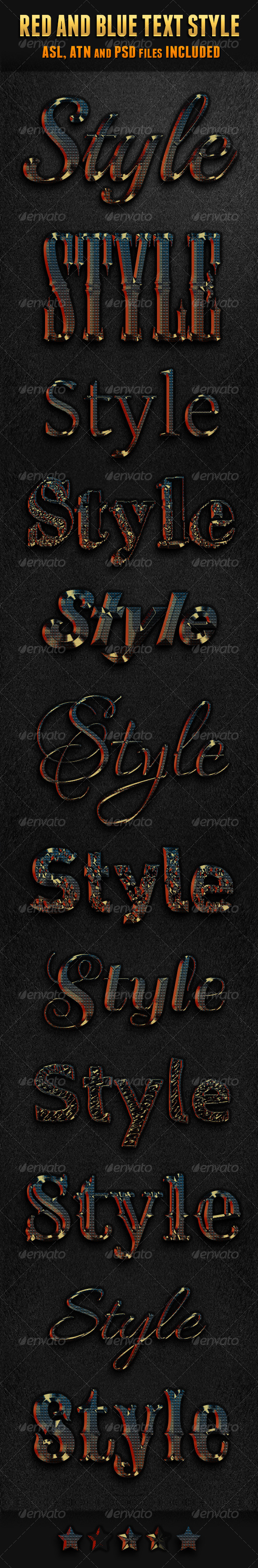 GraphicRiver Red And Blue Text Style 5928794