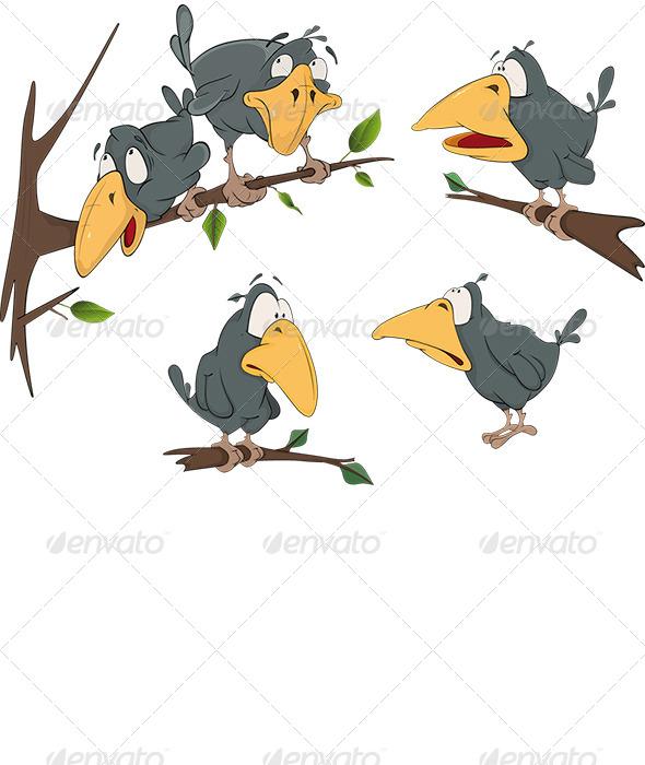 GraphicRiver Ravens Cartoon 5929192
