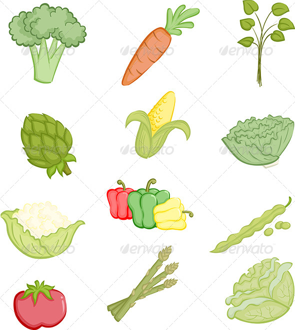 GraphicRiver Vegetables Icons 5929197