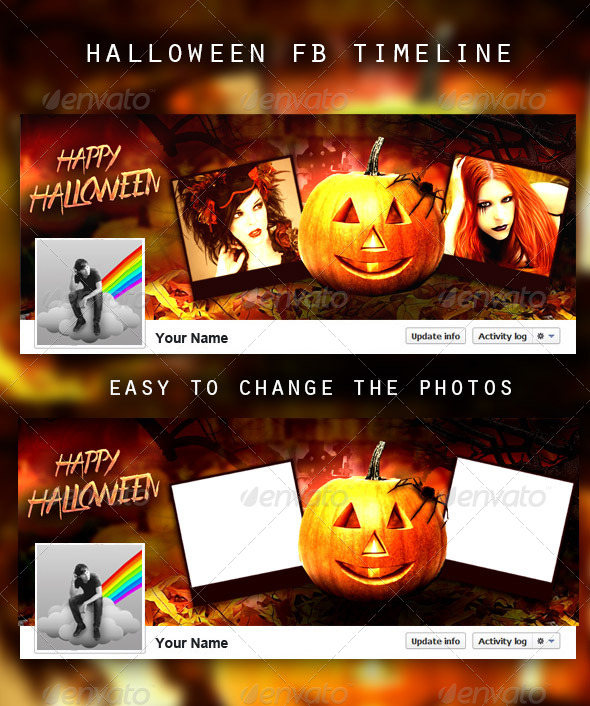 GraphicRiver Halloween FB Timeline 5929415
