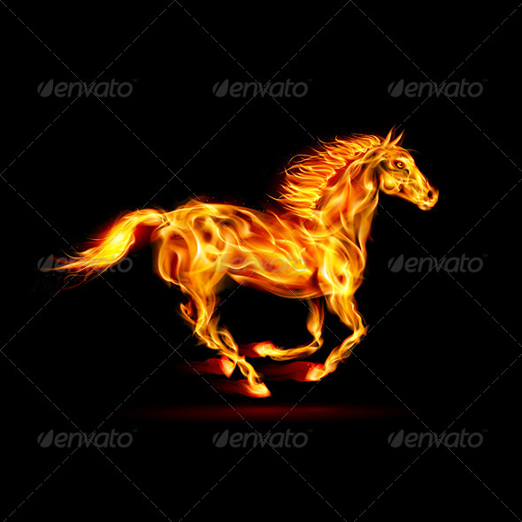 GraphicRiver Fire Horse 5930538