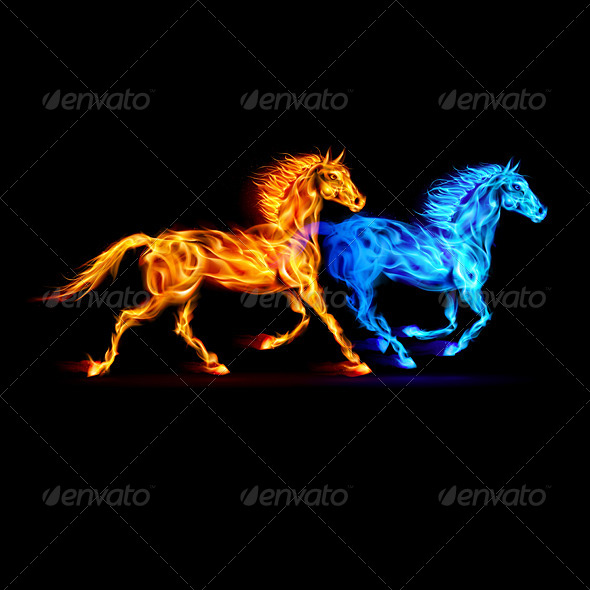 GraphicRiver Fire Horses 5930634