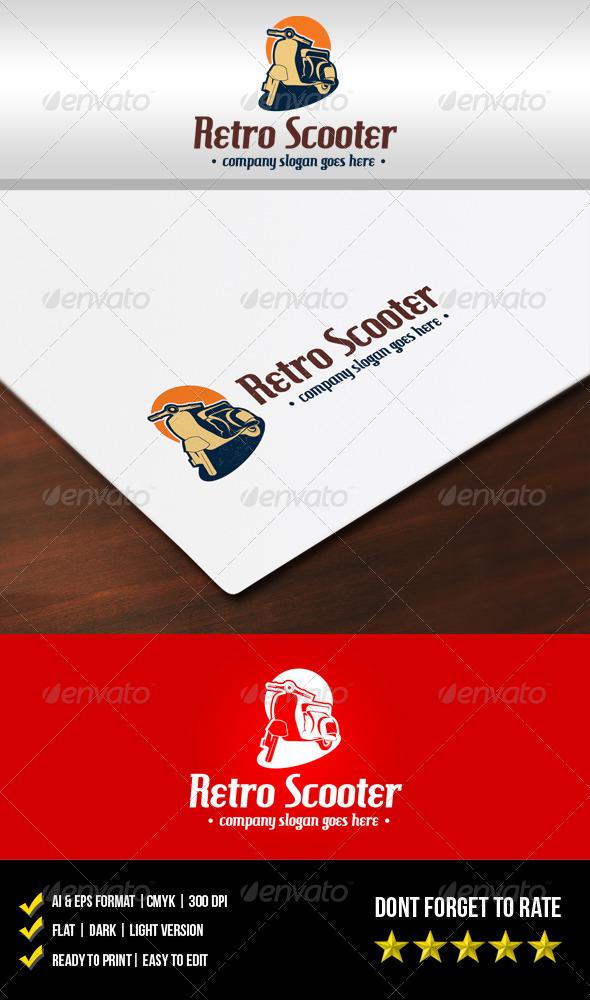 GraphicRiver Retro Scooter Logo 5932868