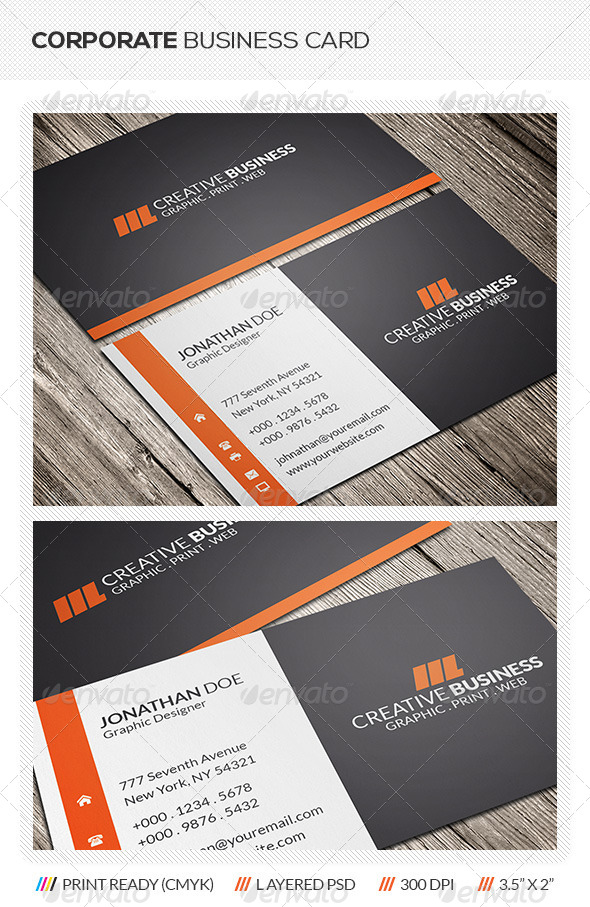 GraphicRiver Modern Corporate Business Card 5933576