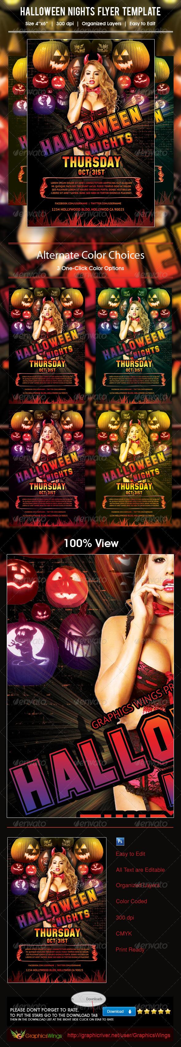 GraphicRiver Halloween Nights Flyer Template 5933861