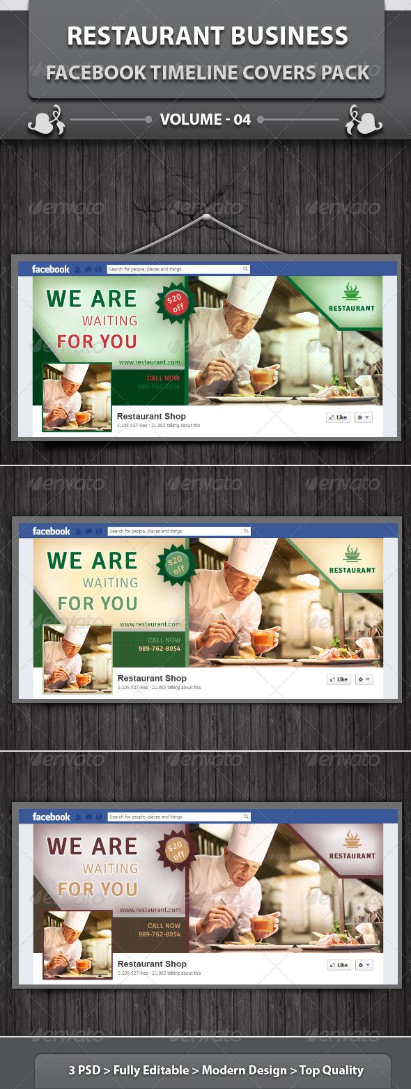 GraphicRiver Restaurant Facebook Timeline Covers Pack v4 5933908