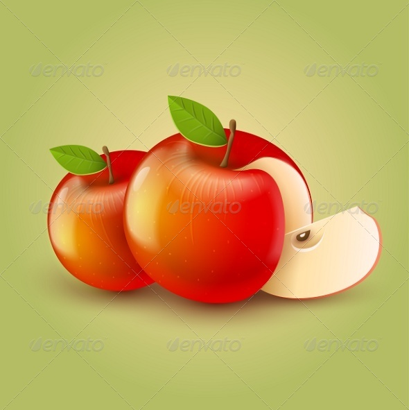 GraphicRiver Red Apples with Cut 5933910