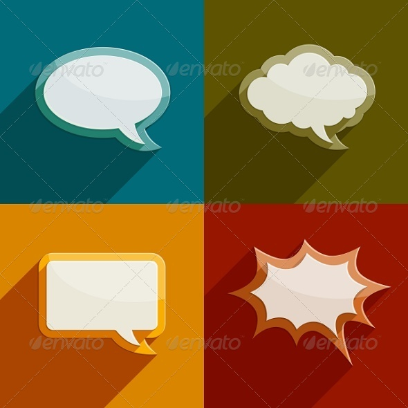 GraphicRiver Speech Bubble Clouds Kit for Messages 5933928