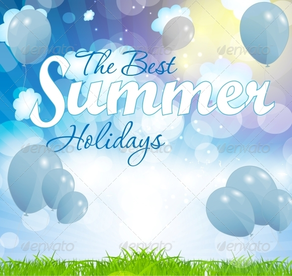 GraphicRiver Summer Holidays Vector Background 5934034