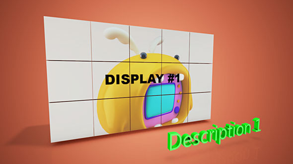 Cinema 4D Template - VideoHive Cube Displays 1942755 ...