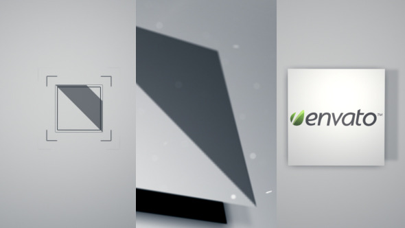 Clear Square Logo Reveal