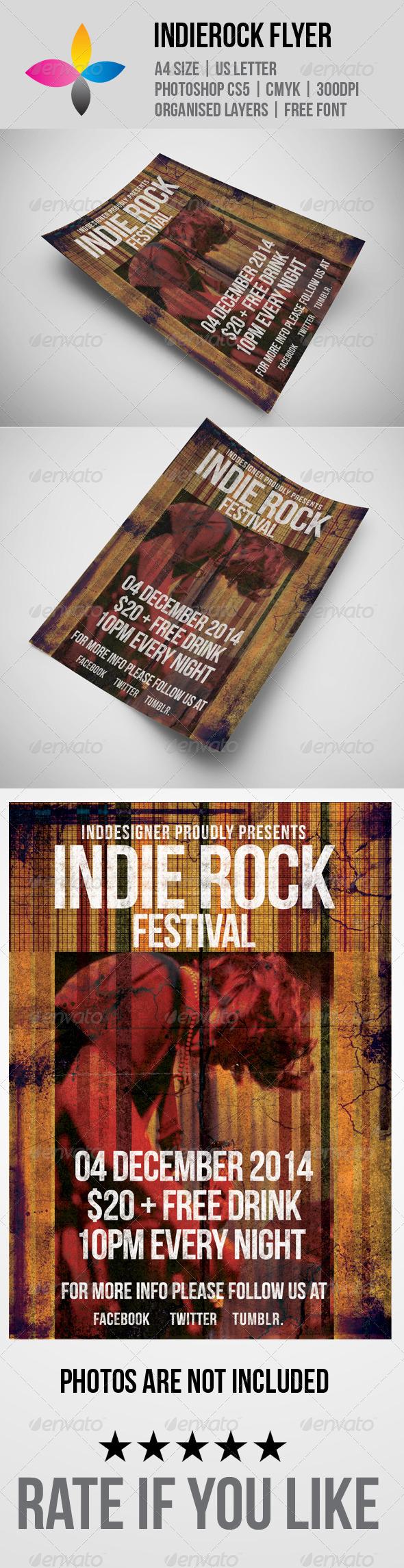 GraphicRiver Indie Rock Flyer 5934099