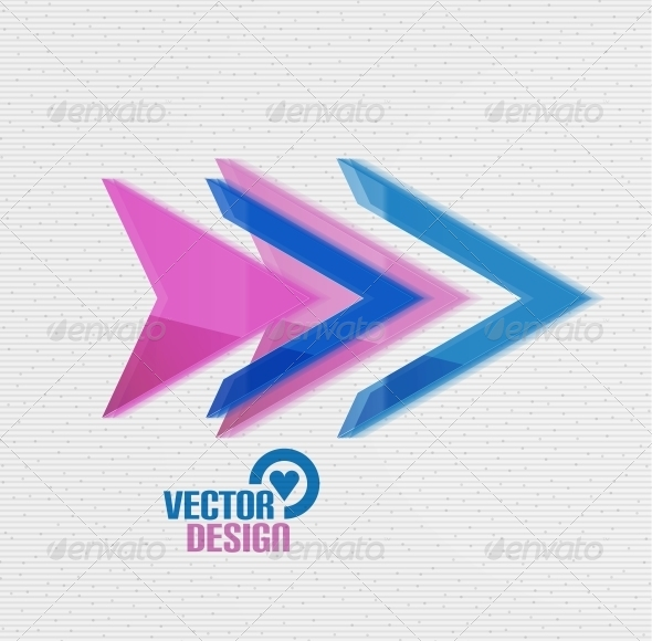 GraphicRiver Vector 3D Glossy Arrow Sign Template 5934281
