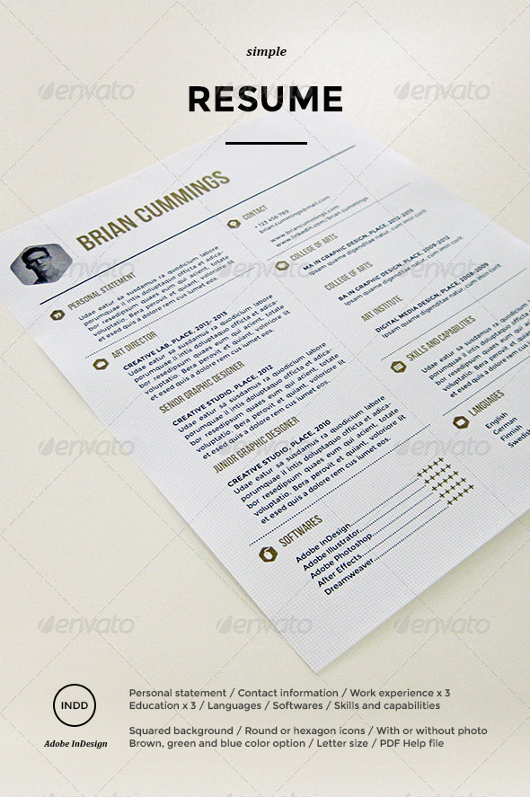 GraphicRiver Simple Resume 5895168