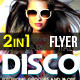 Electronic Party Flyer Poster 2 in 1 Disco Electro - GraphicRiver Item for Sale
