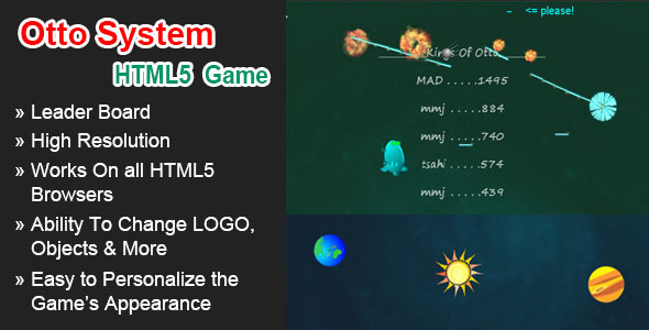 CodeCanyon Otto System HTML5 Space Shooter 5934380