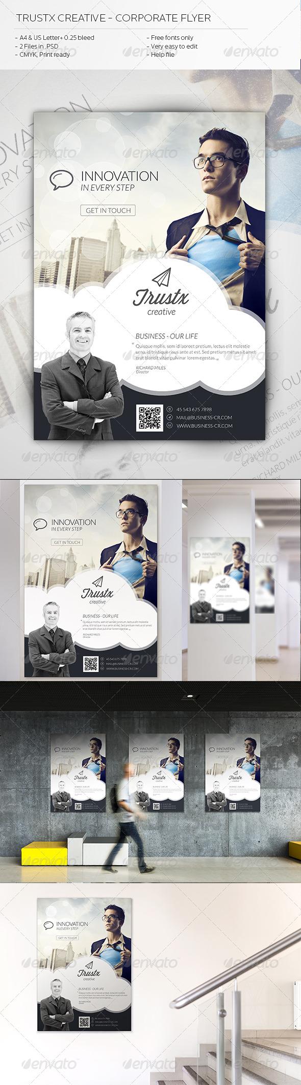 GraphicRiver Trustx Creative Corporate Flyer 5900477