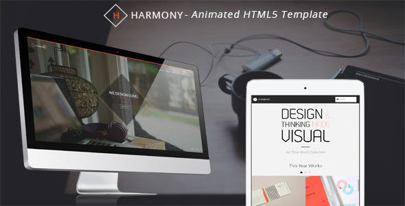 ThemeForest Harmony Animated One-Page HTML 5 Template 5934715