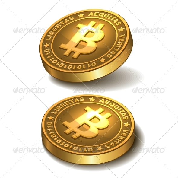 GraphicRiver Bitcoins Isolated on White 5934969
