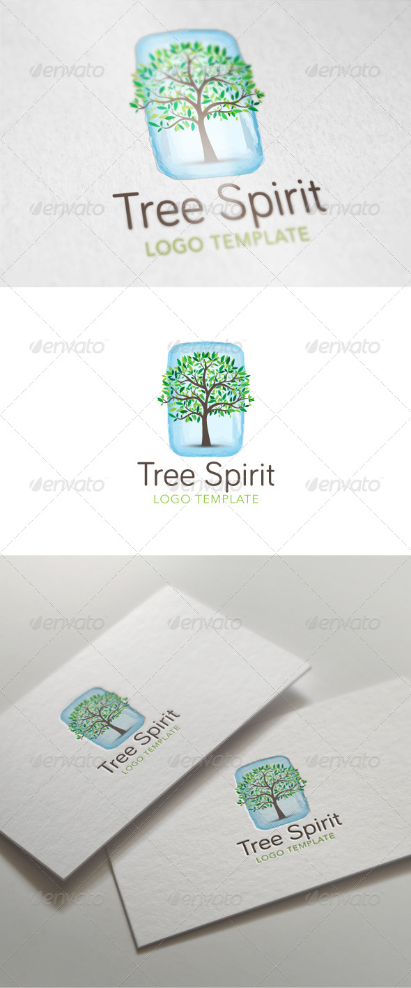 GraphicRiver Tree Spirit Logo Template 5935006