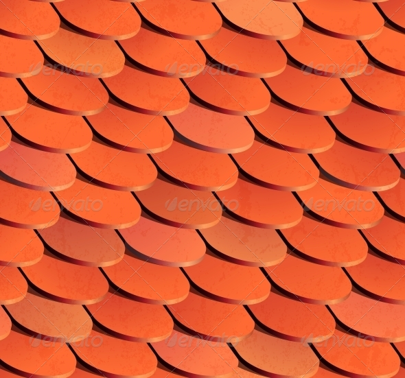 GraphicRiver Seamless Roof Tiles Vector Background 5935013