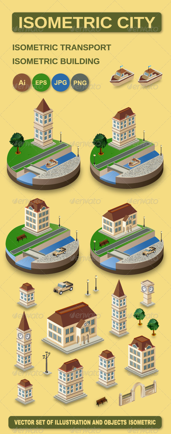GraphicRiver Vector Isometric City 5935167