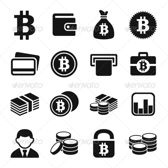 GraphicRiver Bitcoin Icons Set 5935169