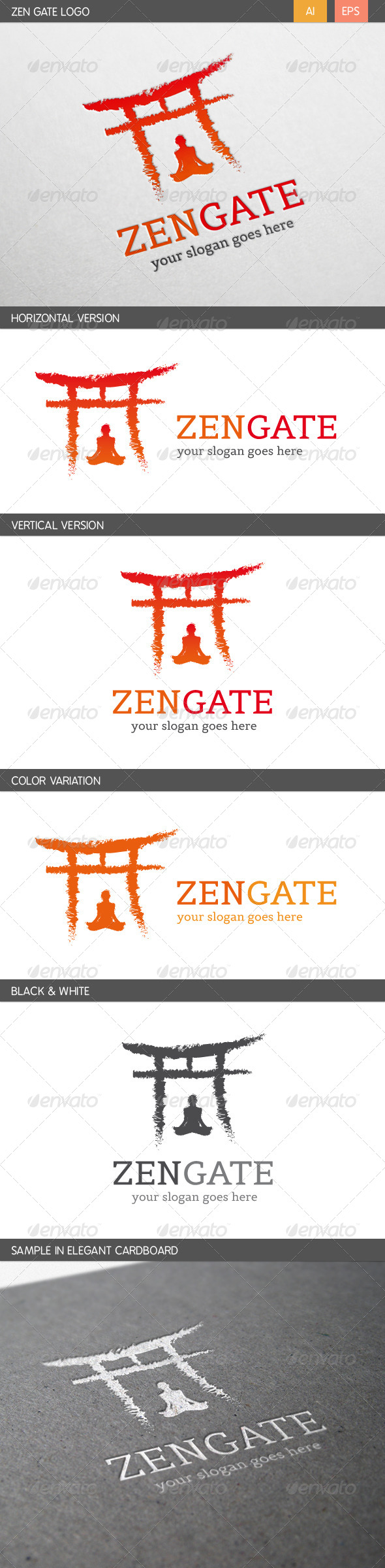 GraphicRiver Zen Gate Logo 5935180