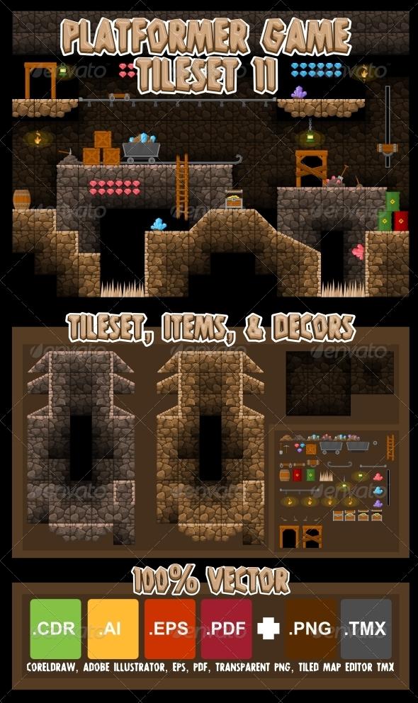 GraphicRiver Platformer Game Tile Set 11 5935561