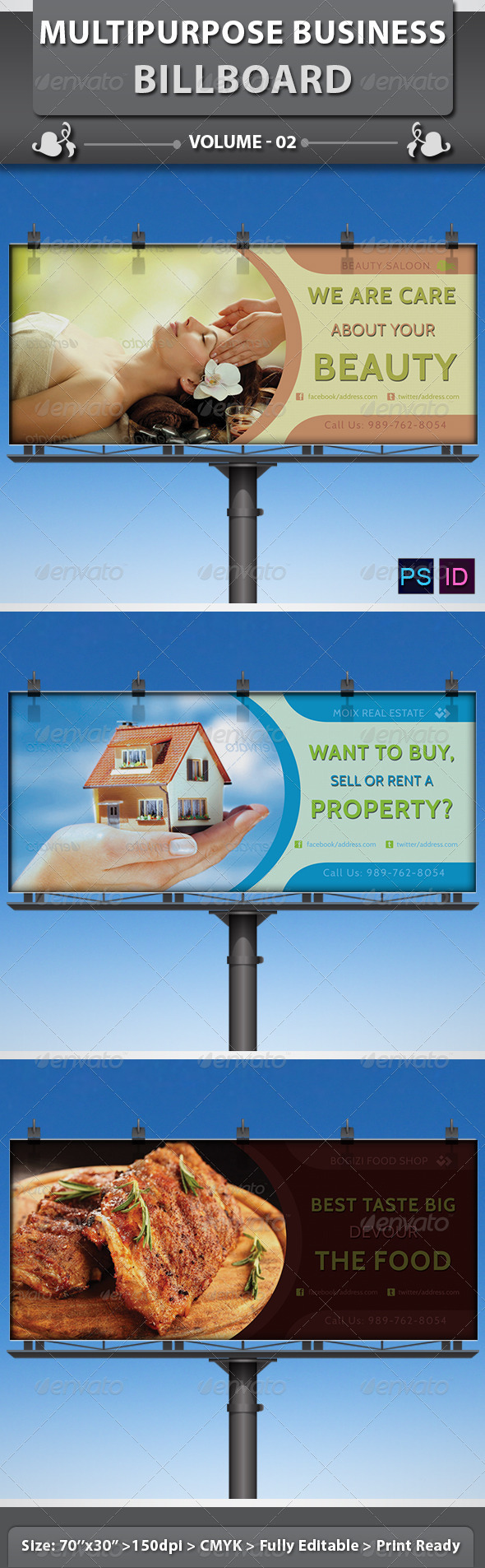 GraphicRiver Multipurpose Business Billboard v2 5215236