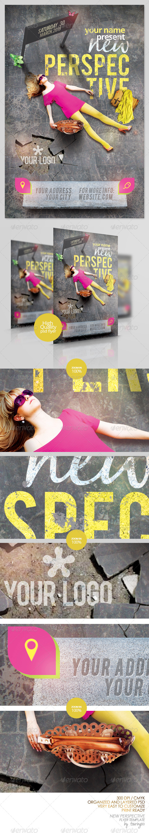 New Perspective Flyer Template - Flyers Print Templates