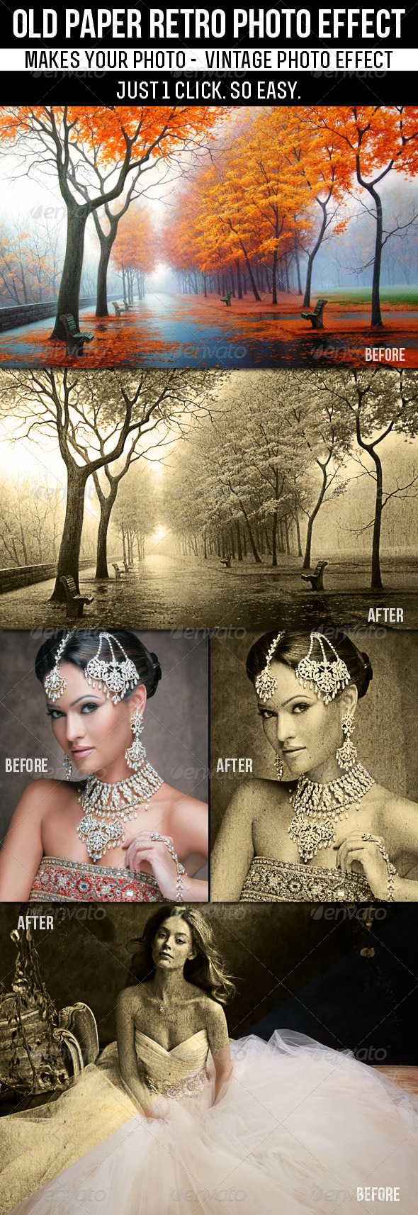 Old Paper Retro Photo Effect - Photo Effects Actions