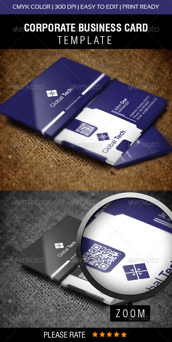 GraphicRiver Global Tech Business Card 5935742