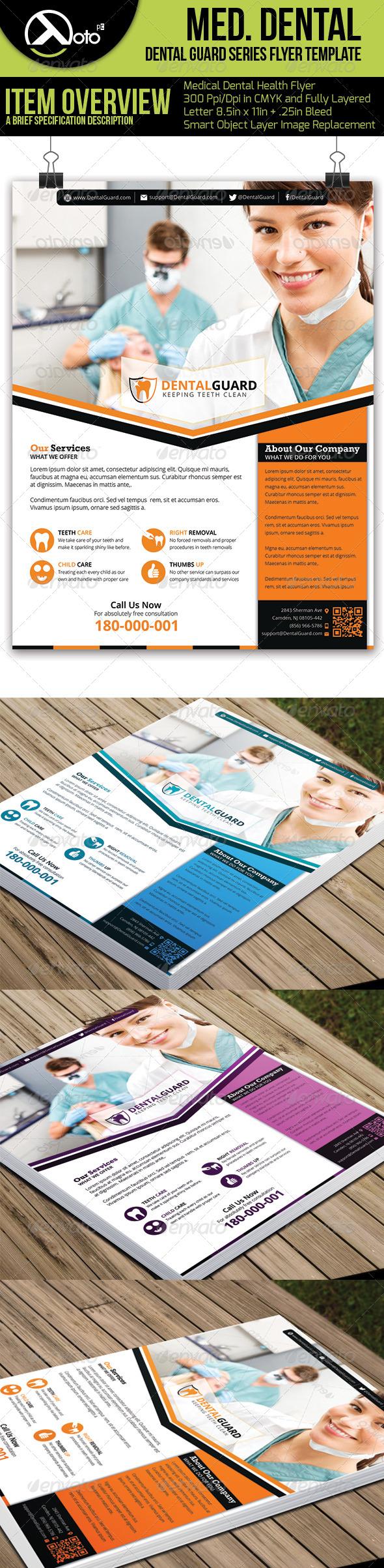 Medical Dental Flyer  V5 - Flyers Print Templates