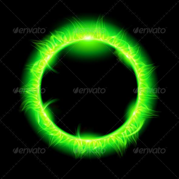 GraphicRiver Solar Corona with Green Beam 5935830