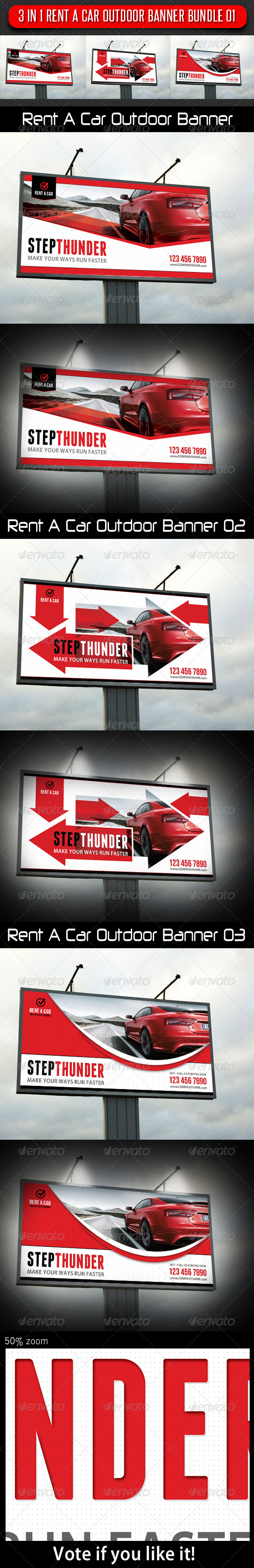 GraphicRiver 3 in 1 Rent A Car Outdoor Banner Bundle 01 5936117