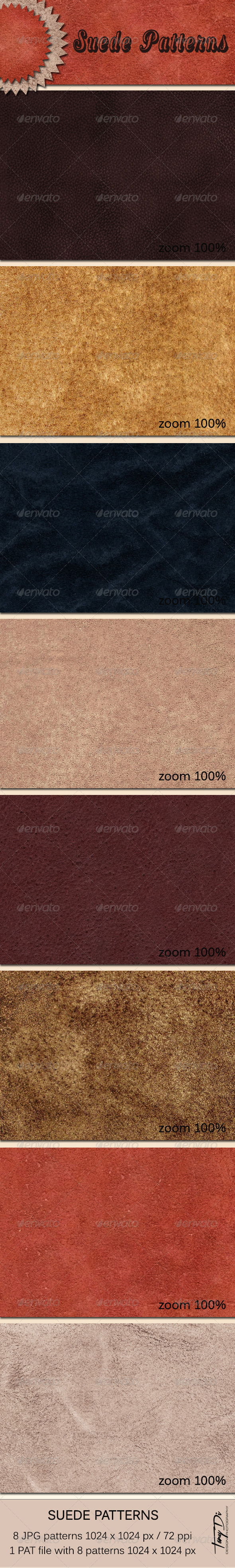 GraphicRiver Suede Patterns 5936177