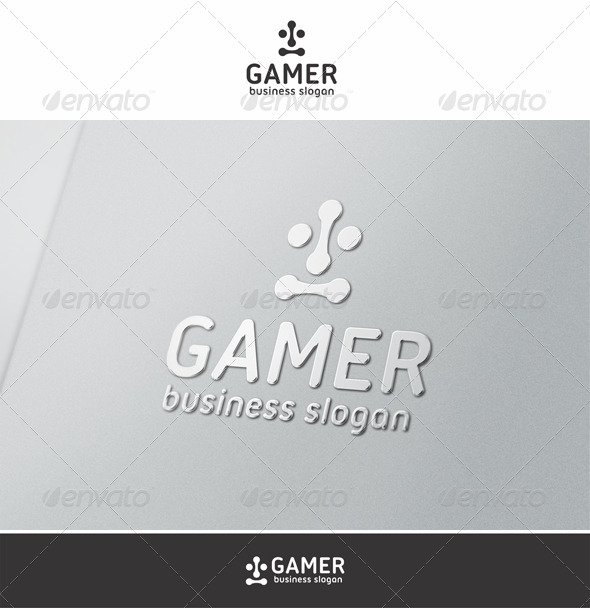 Gamer Face Logo - Vector Abstract