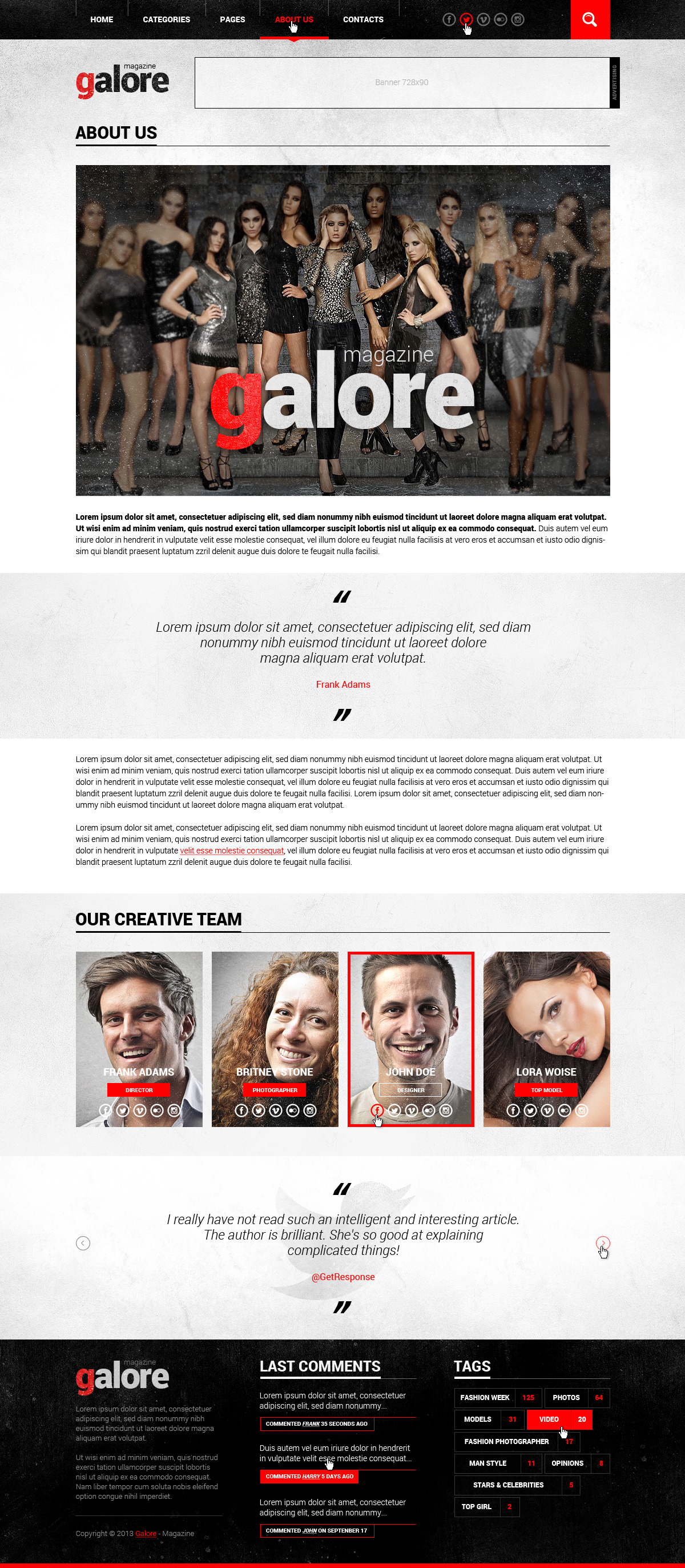 Galore PSD Template