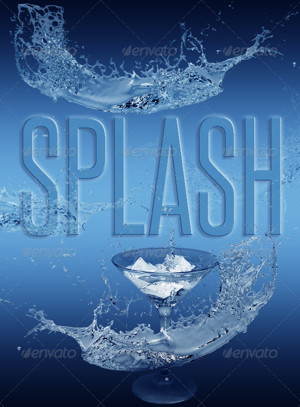 GraphicRiver Ice Splash 619837
