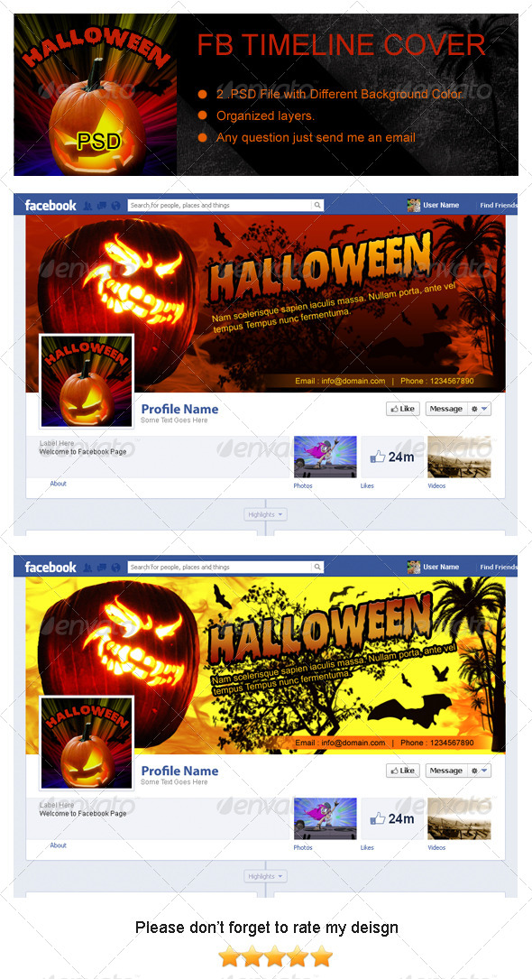 GraphicRiver Halloween Fb Timeline Cover 5936962