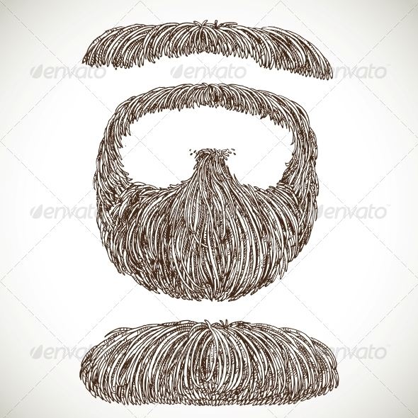 GraphicRiver Lush Retro Mustache and Beard 5937136