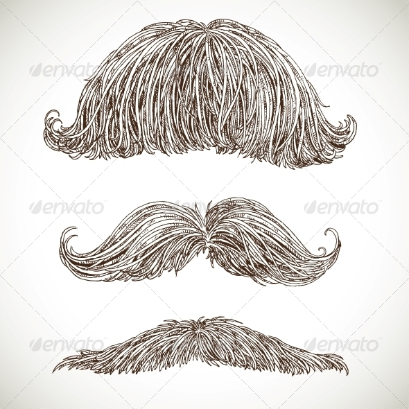 GraphicRiver Retro Mustache Set 5938167