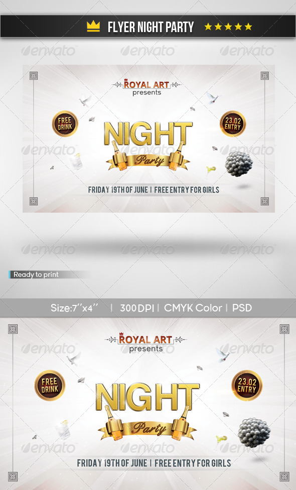 GraphicRiver Flyer Night Party 5890359
