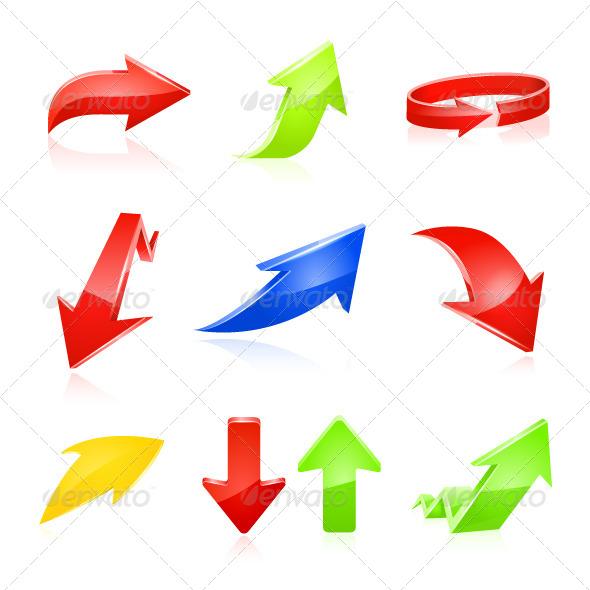 GraphicRiver Arrow Icon Set 5938473